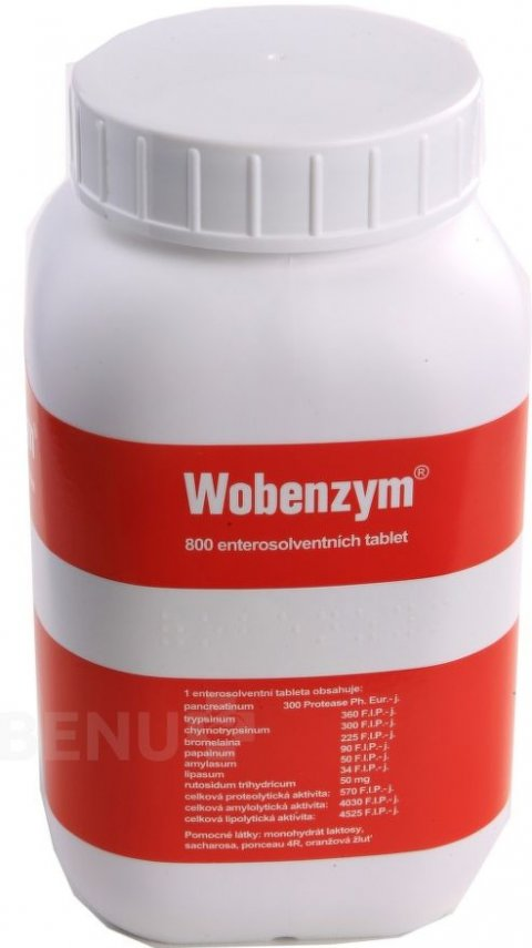 WOBENZYM enterosolventní tableta 800