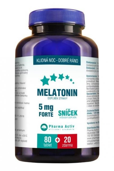 Melatonin 5mg FORTE 80+20 tablet ZDARMA